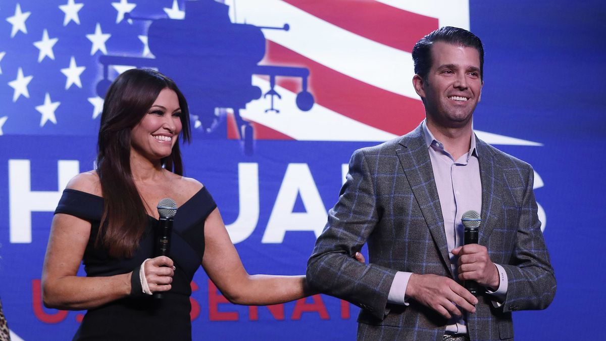 Donald Trump Jr., and Kimberly Guilfoyle appear at a rally for Republican U.S. Senate...