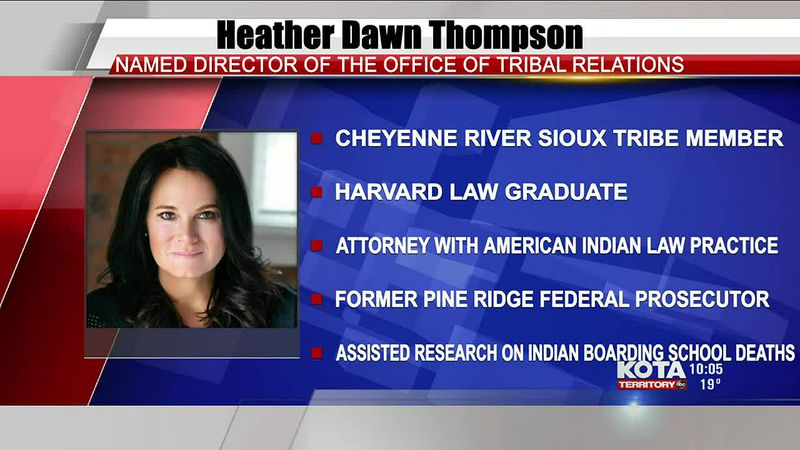 Cheyenne River Sioux Tribe member, Heather Dawn Thompson was appointed as director of USDA...