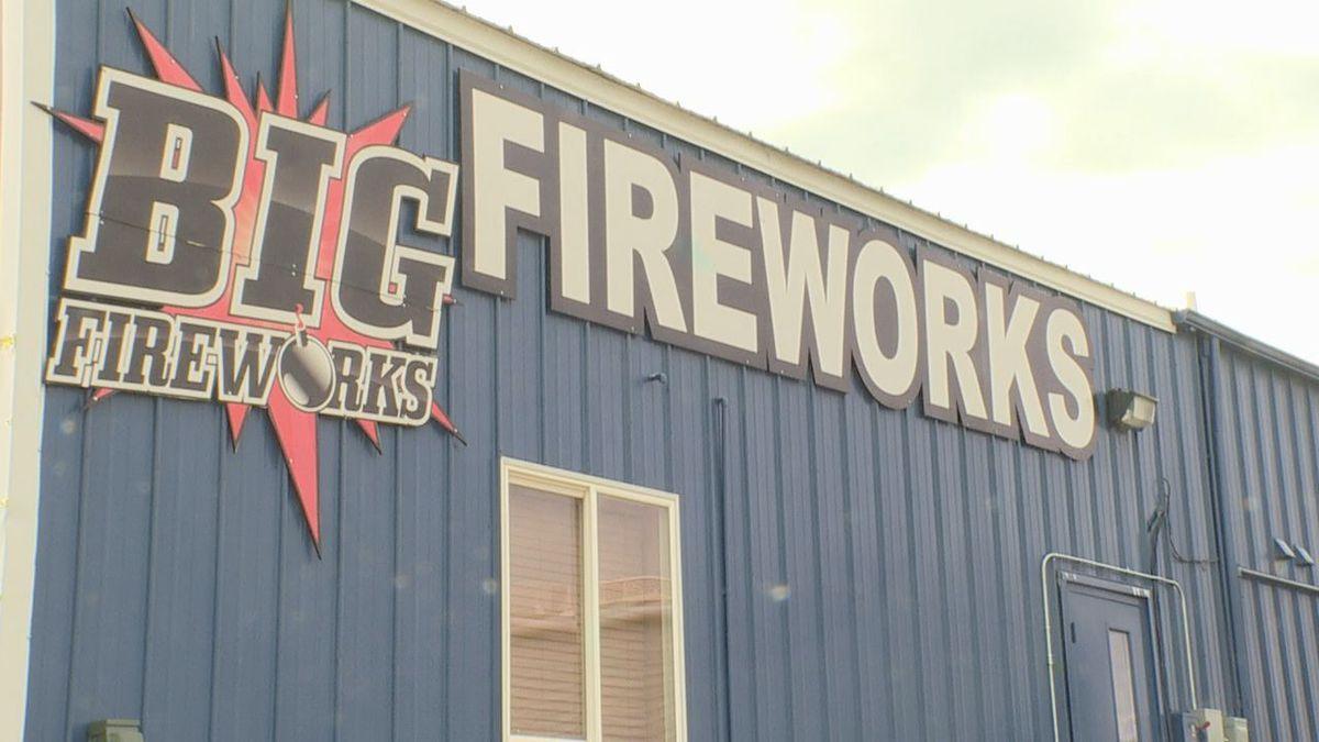 Big Fireworks in Rapid City