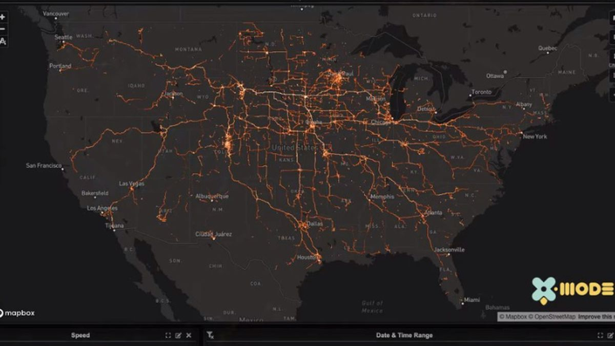 Map showing flow of traffic into sturgis, courtesy Tectonix.com
