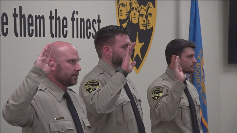 New correctional officers swear an oath to protect and serve.