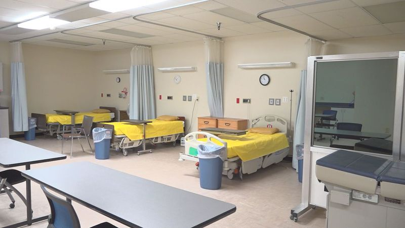 Plastic sheets, plastic wrap curtains, virtual simulations--nursing students are walking into a...
