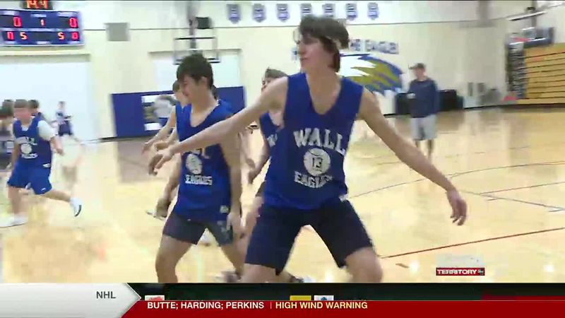 The Wall Eagles boys basketball team will play the Faith Longhorns in the final game of the...