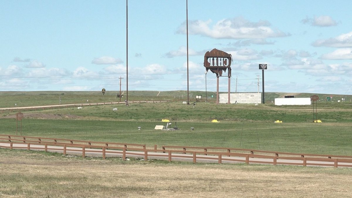 Buffalo Chip looks bare after the Sturgis Motorcycle Rally. (KOTA TV)