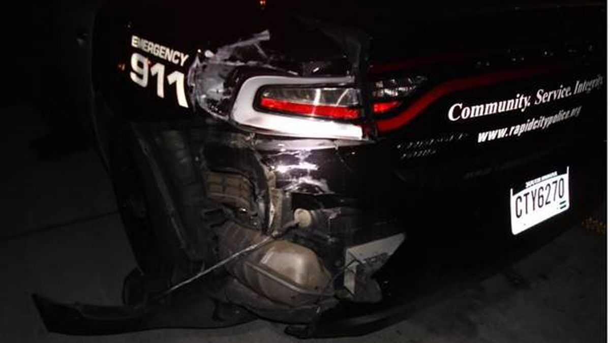 At around 10:00 p.m. on October 15th, a police sergeant was on routine patrol driving westbound in the 1500 block of West Omaha Street when he was rear-ended by a Chevy Suburban.