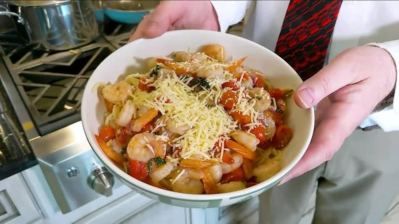 A beautiful yet simple-to-prepare shrimp pasta dish