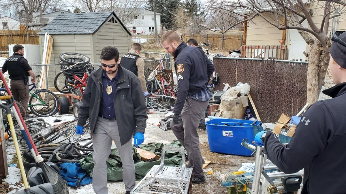 Police search the Lemmon Avenue home of 43-year-old Jason Williams where they say they found more than 200 stolen items. (photo courtesy Rapid City Police Department)