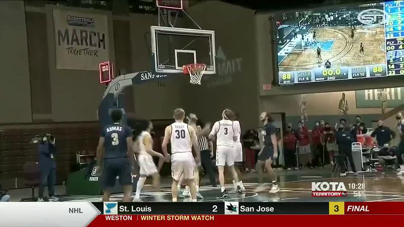 The South Dakota State Men's basketball team lost to Oral Roberts 90 to 88. In the Women's...