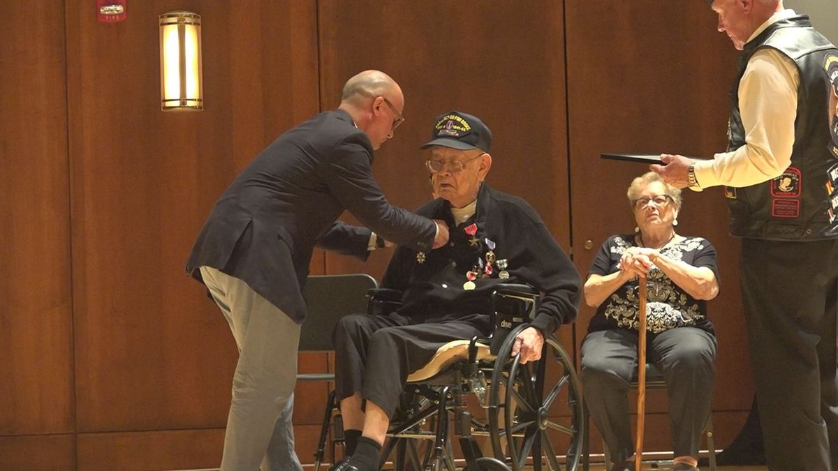 Kenneth Higashi receives prestigious medals due to his service.