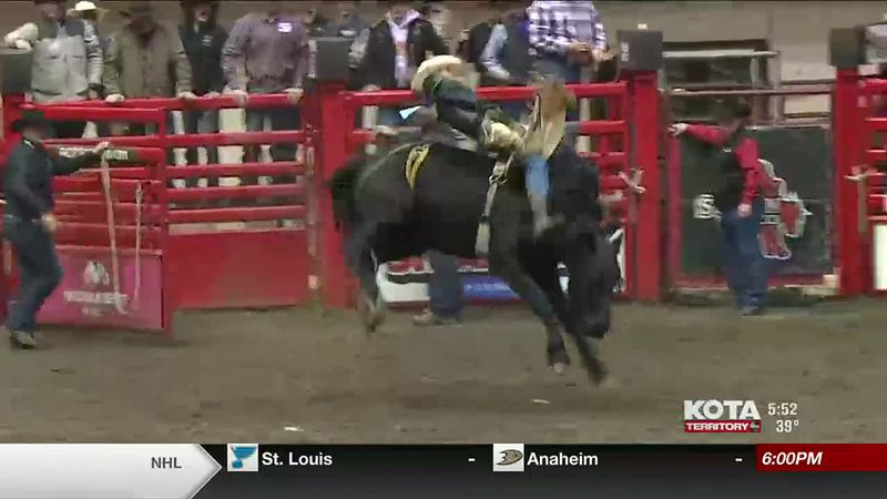 The top high school rodeo athletes in the state competed for scholarships. Bareback riding...