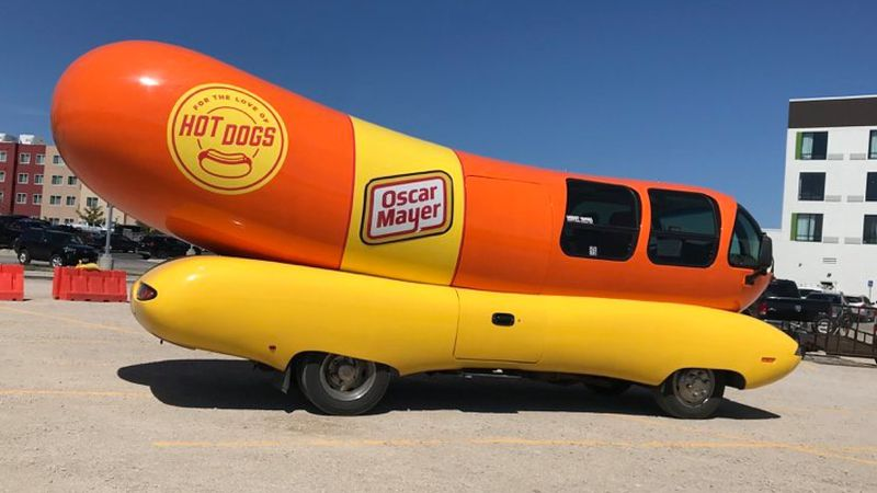 The Wienermobile and Nutmobile are in Rapid City and Spearfish until Aug. 24.