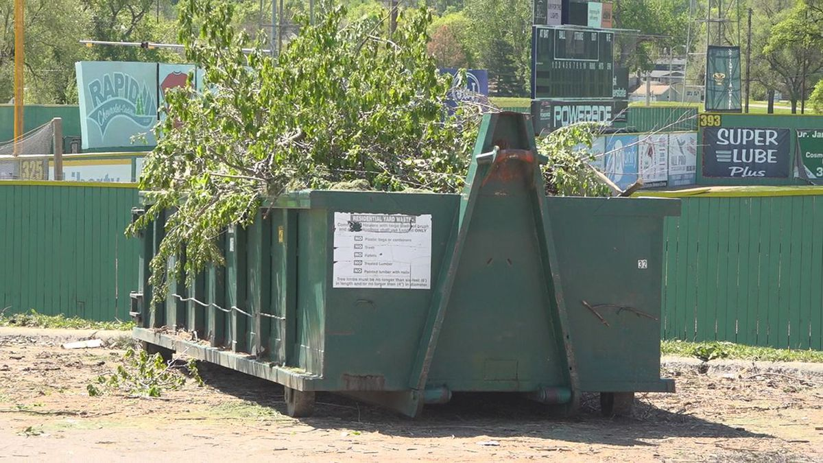 The remote transfer station for yard waste near Fitzgerald Stadium in Rapid City, S.D.