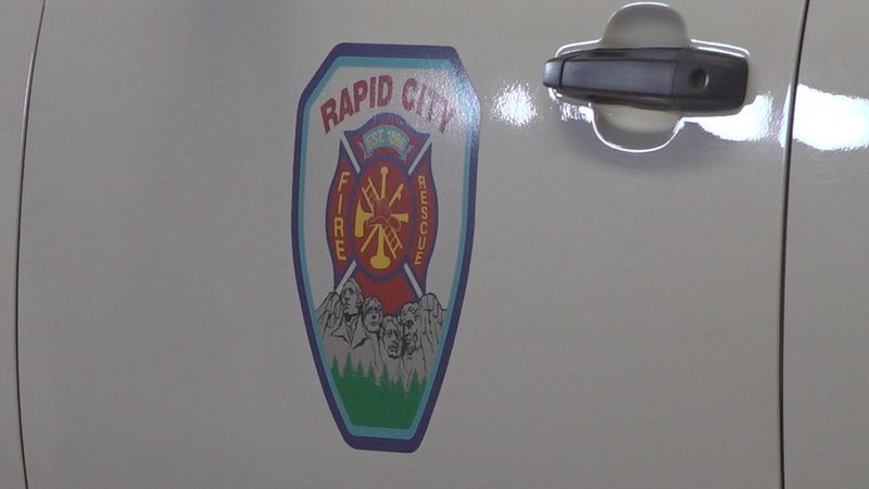 Rapid City Fire Department logo on truck