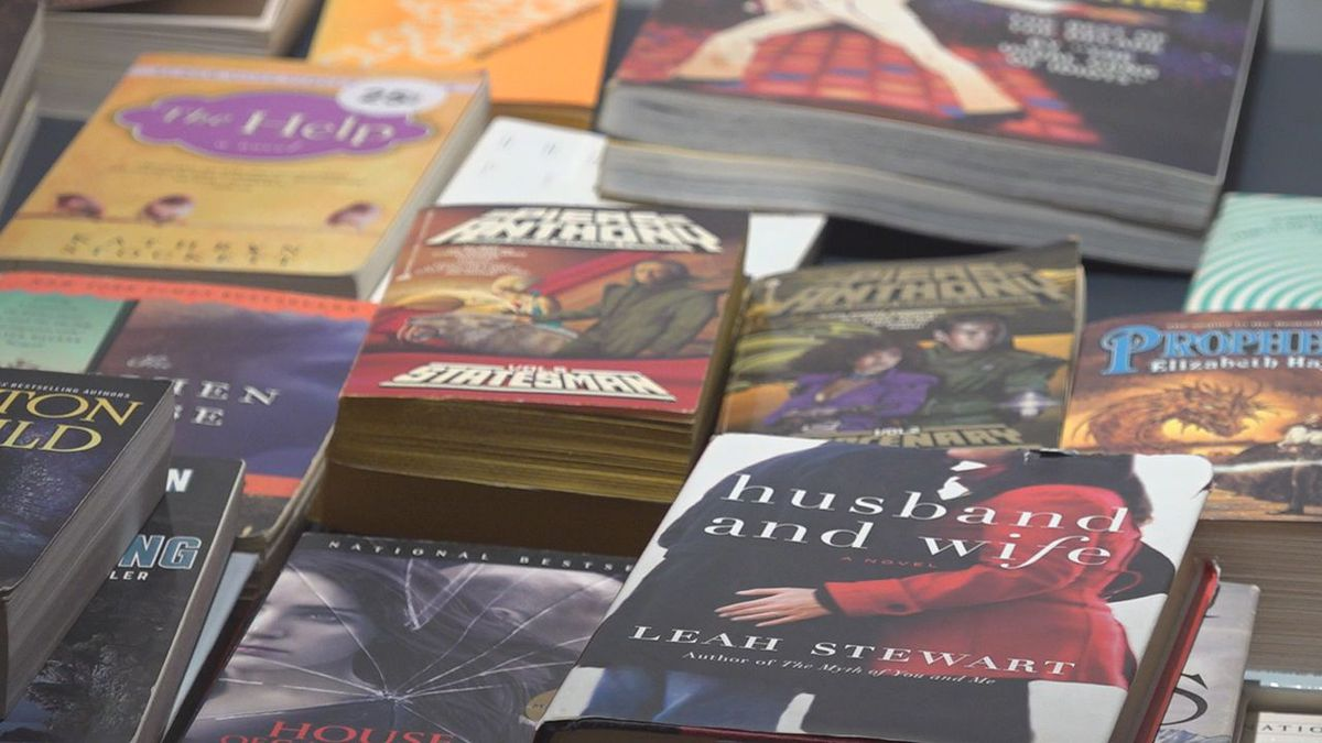 Hippie Haven collects books to donate to local organizations.