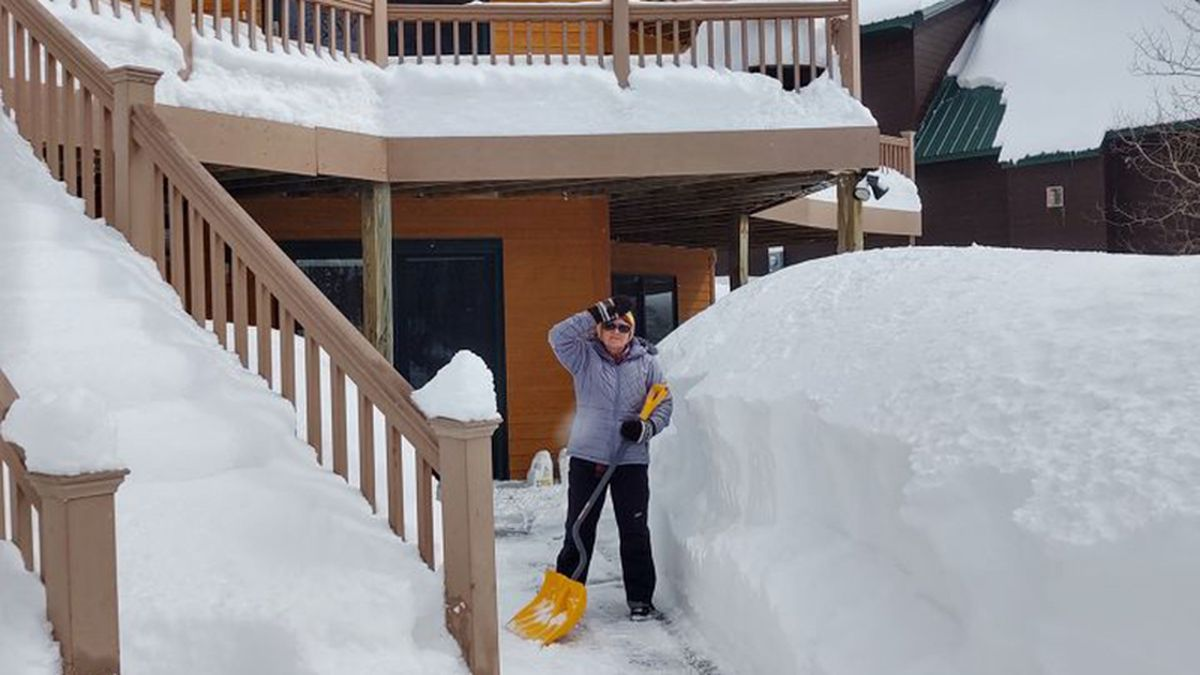 Digging out Terry Peak after the Feb. 25-26 snowstorm. (photo courtesy John)