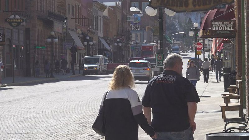 Downtown Deadwood prepping for summer.