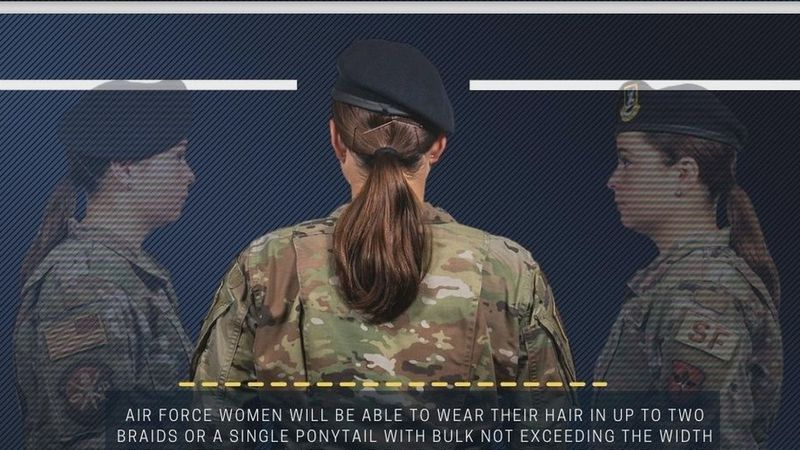 The United States Air Force announced a new regulation allowing female airmen to lose the tight...
