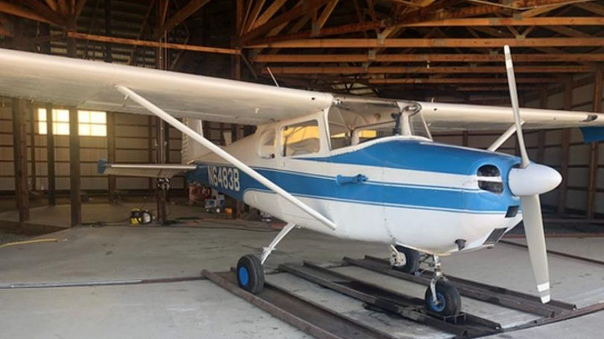The single-engine plane was headed to Oakes, N.D. after taking off from the Aberdeen Regional Airport Wednesday night. (courtesy Dakota Radio Group)