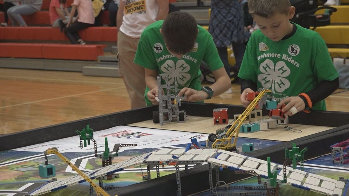 Participants at the FIRST Lego Competition on Saturday. (KOTA TV)