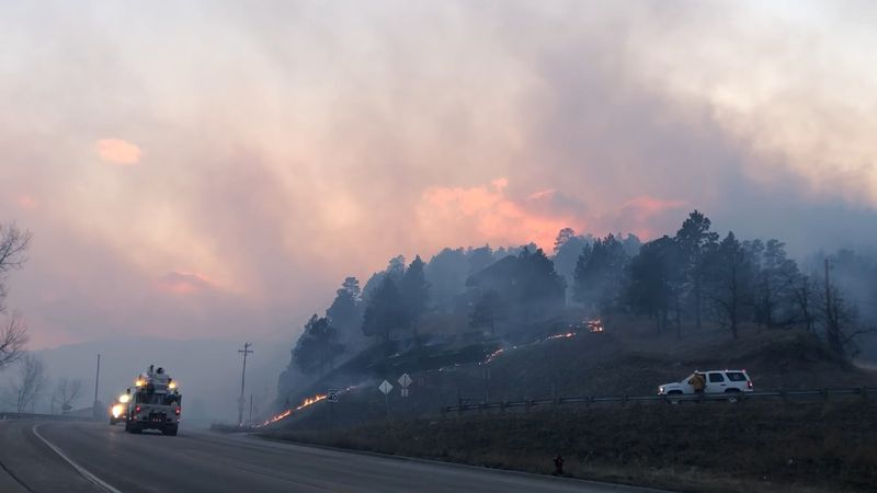 Schroeder Fire burns north of Highway 44 7 p.m. on March 29.