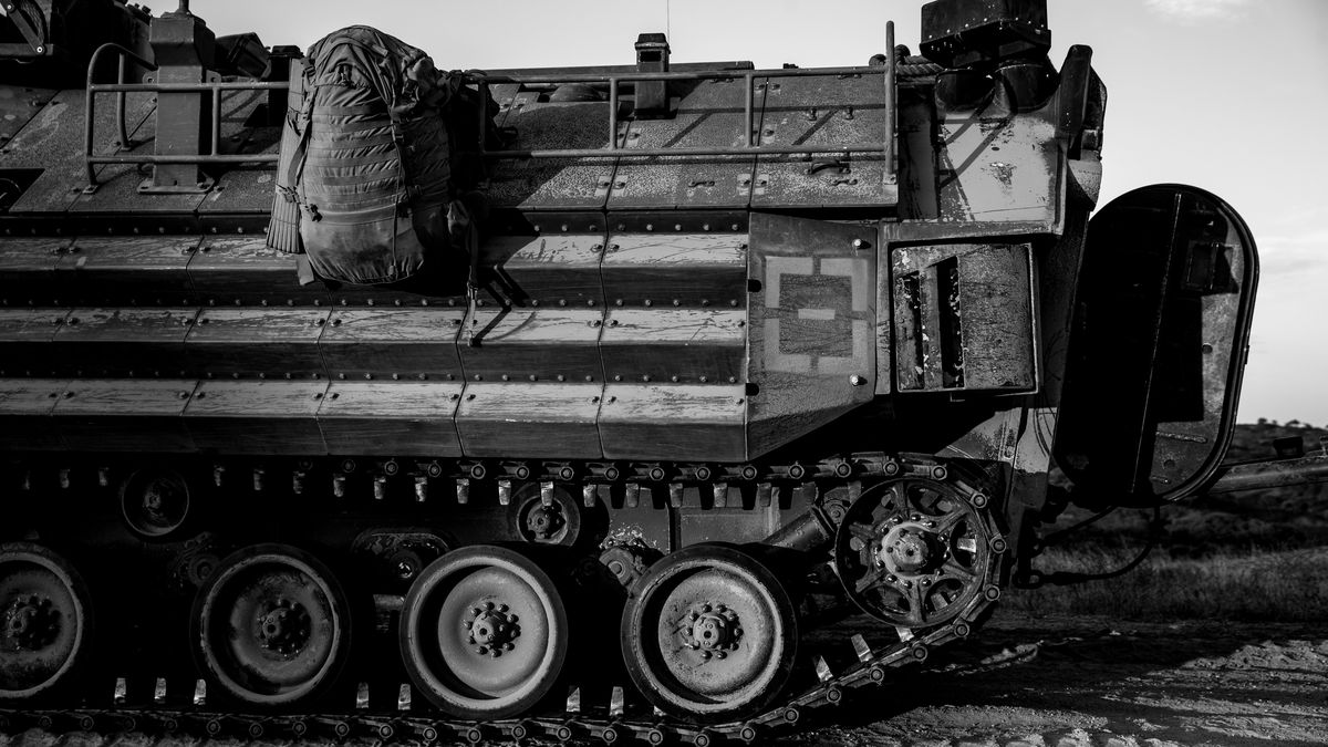A U.S. Marine Corps AAV-P7/A1 amphibious assault vehicle is shown at Marine Corps Base Camp Pendleton, California, July 11. One Marine has died, two injured and eight others are missing after an amphibious assault vehicle accident off the coast of southern California.