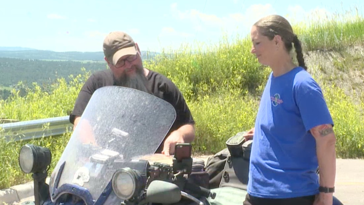 Wendy Crockett becomes the first woman to win the Iron Butt Rally. (KEVN)