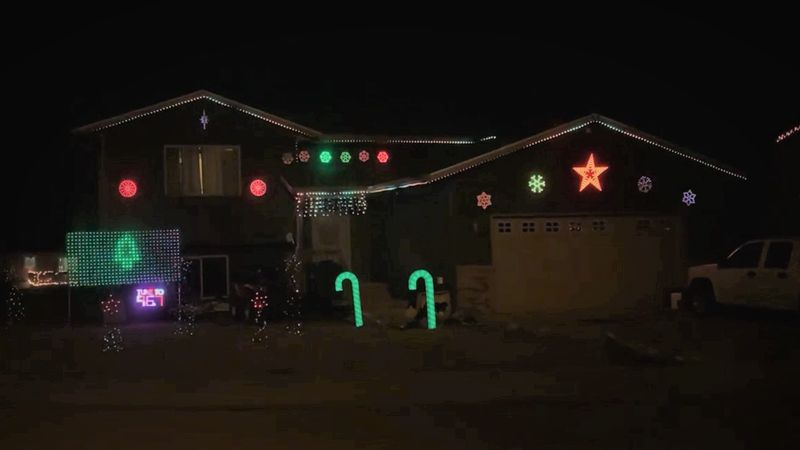 If you drive by this house on Flight Line Court in Box Elder, turn the radio station to 96.7...