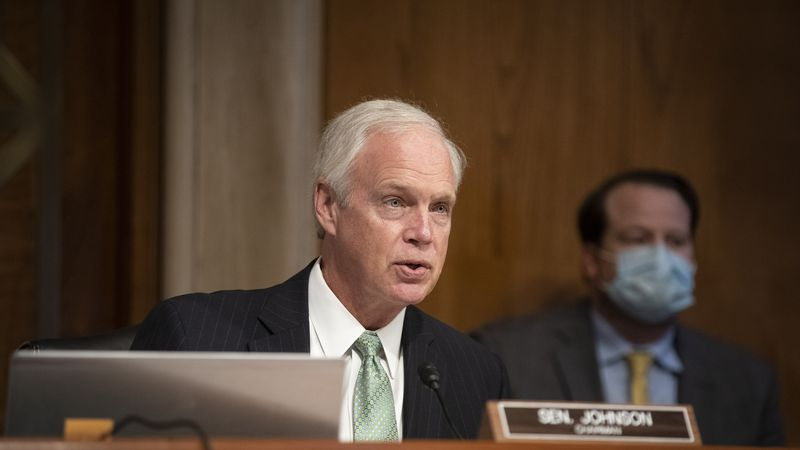 (FILE) Sen. Ron Johnson retracts his initial proposal to replace the Columbus Day federal...