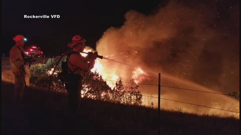 Regional firefighters tackle human-caused fire near Wasta