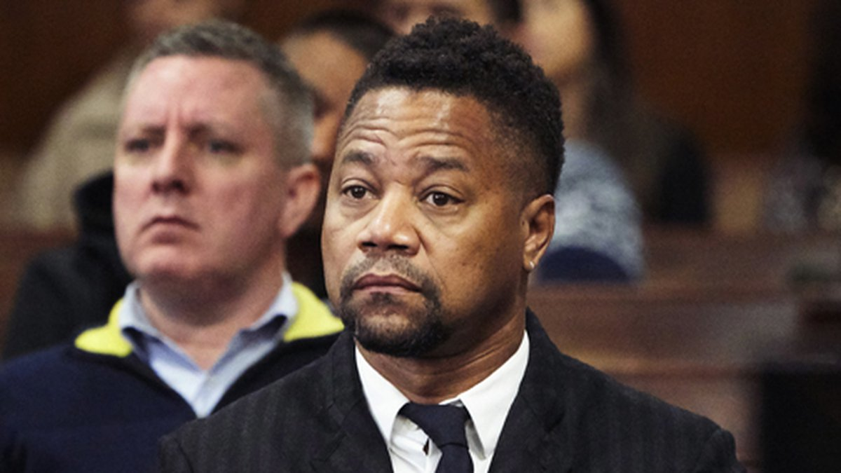 Cuba Gooding Jr. appears in a courtroom in New York, Thursday, Oct. 10, 2019. The actor is...