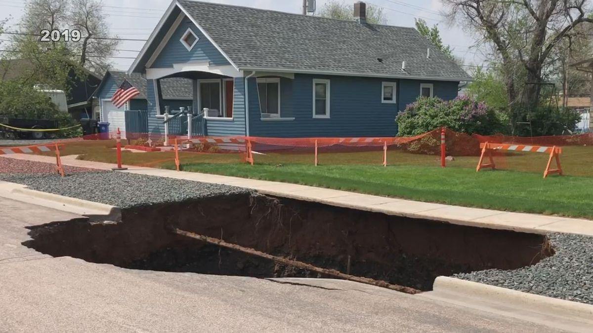 This sinkhole was from last year in Rapid City.