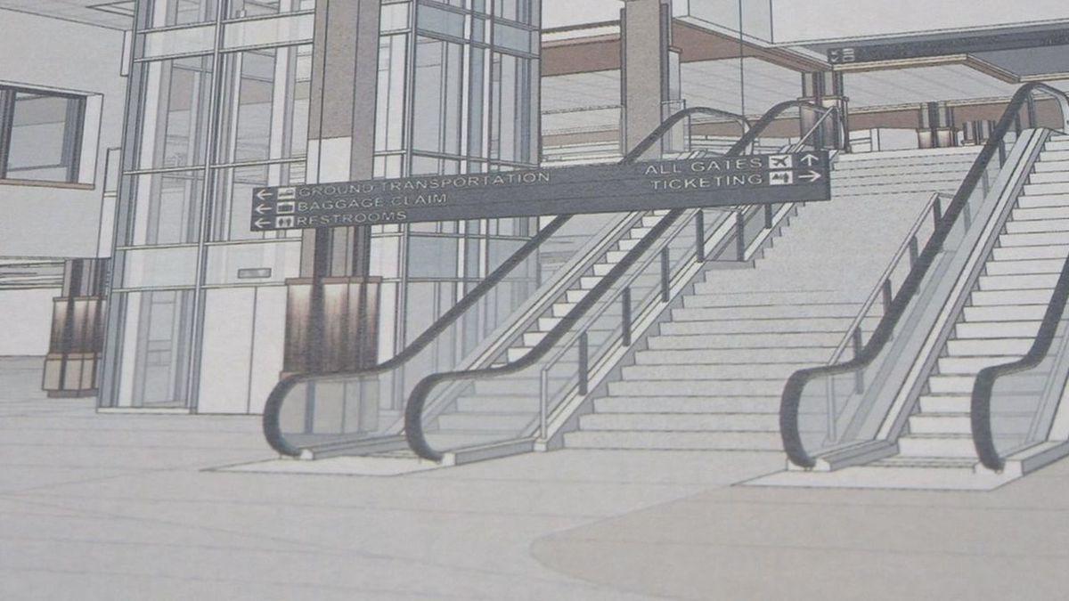 The model of the future renovations at Rapid City Regional Airport. (KOTA TV)