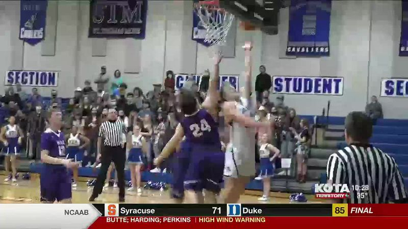 The St. Thomas More boys basketball team beat the Belle Fourche Broncs 50 to 27. The Black...