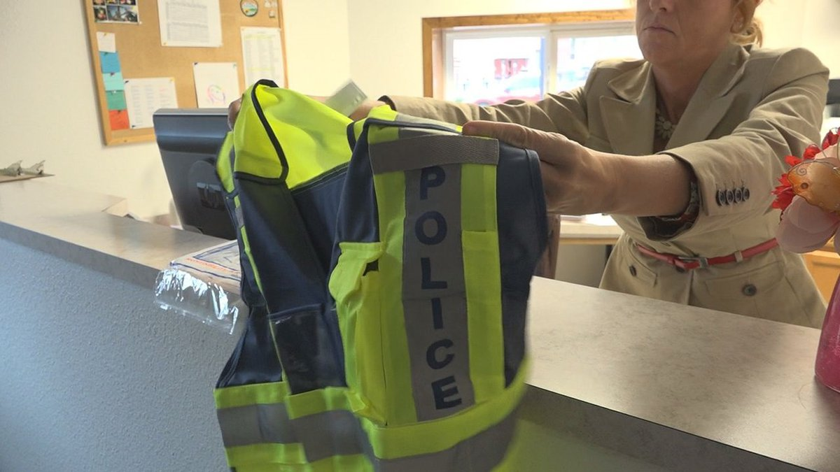 American Legion Riders donate safety vests to Hot Springs Police Department. (KOTA TV)