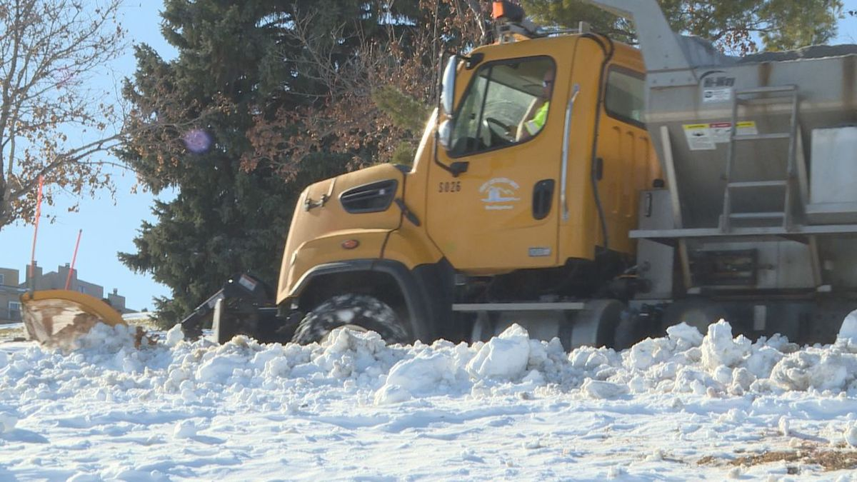 Rapid City crews clearing the streets days after the blizzard.