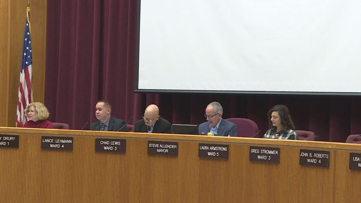 City Council members meet at City / School Administration Building in Rapid City, S.D.